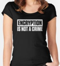 ENCRYPTION IS NOT A CRIME Fitted Scoop T-Shirt