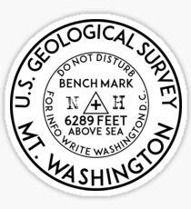 HIKING CLIMBING MOUNT WASHINGTON NEW HAMPSHIRE USGS GEOCACHING BENCHMARK BENCH MARK GEOLOGICAL SURVEY Sticker
