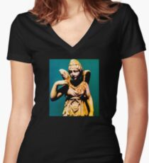 """Angel"" Women's Fitted V-Neck T-Shirt"