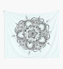 White and Gray Mandala Wall Tapestry