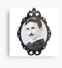 NikolaTesla Framed Metal Print