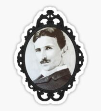 NikolaTesla Framed Sticker