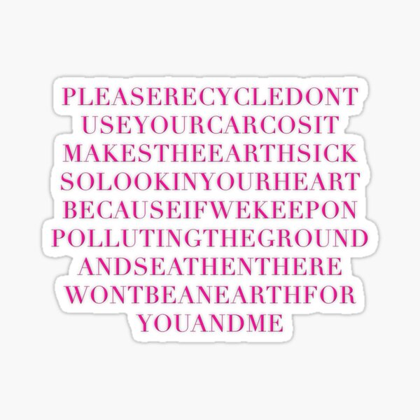 Please Recycle! Sticker