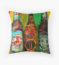 Brooklyn Beer Lager, Summer - Men Cave Throw Pillow