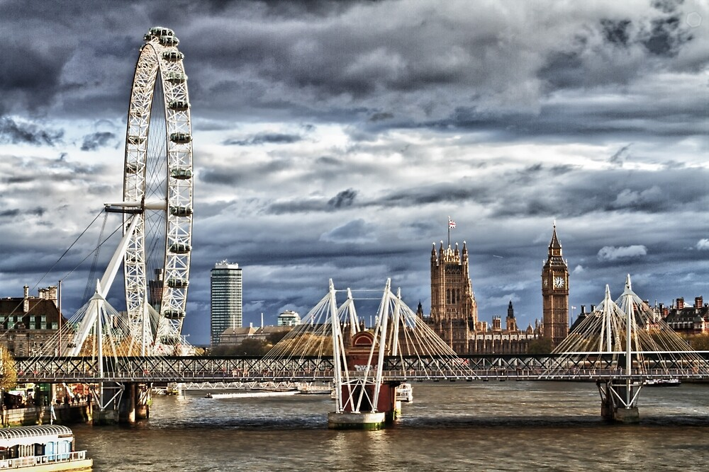 View from London Bridge in Colour by solutionary