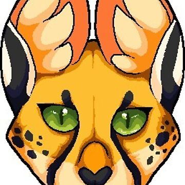 Pixel Serval! by Pilate-dog
