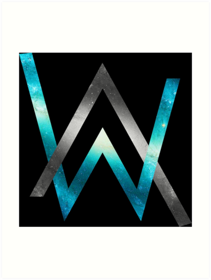 Alan walker kunstdrucke von tapindapapa redbubble - Alan walker logo galaxy ...