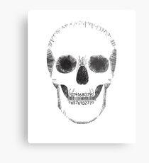 Barcode skull Metal Print
