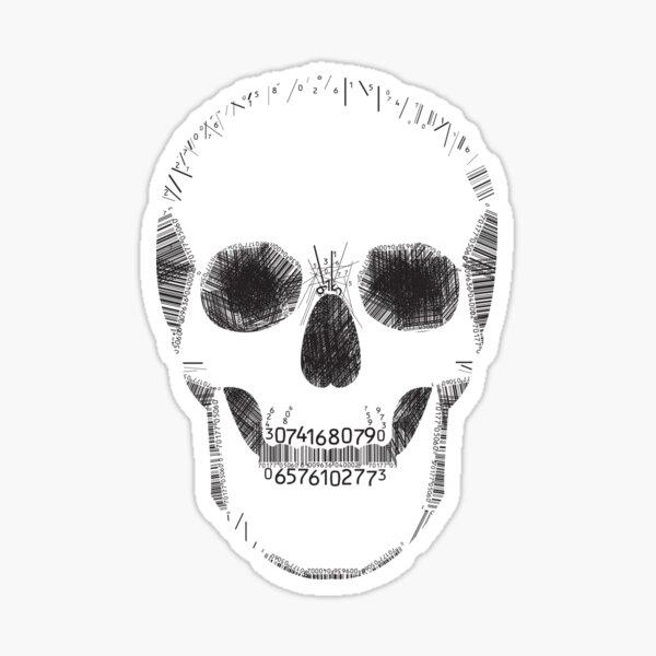 Barcode skull Sticker