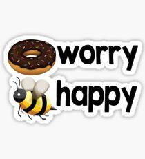 Donut Worry, Bee Happy Sticker