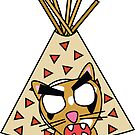 zombie cat cleo in a teepee by shortstack