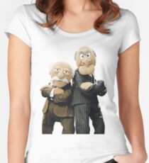 Statler and Waldorf Women's Fitted Scoop T-Shirt