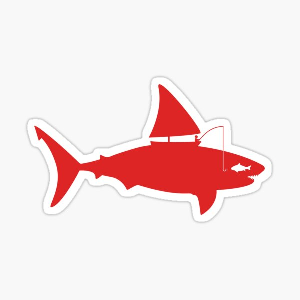 A fin day for fishing: RED Sticker