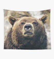 Grizzly Bear Wall Tapestry