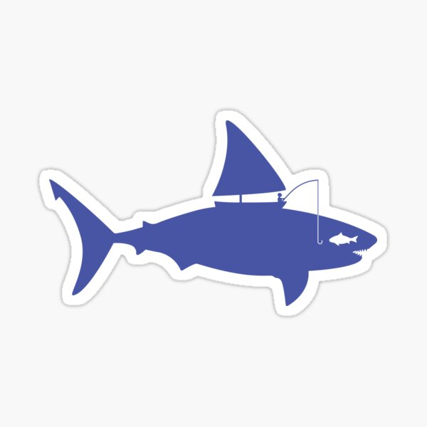 A fin day for fishing: BLUE Sticker