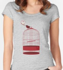 singing bird Women's Fitted Scoop T-Shirt
