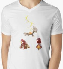 The Discovery of Fire #2 Mens V-Neck T-Shirt