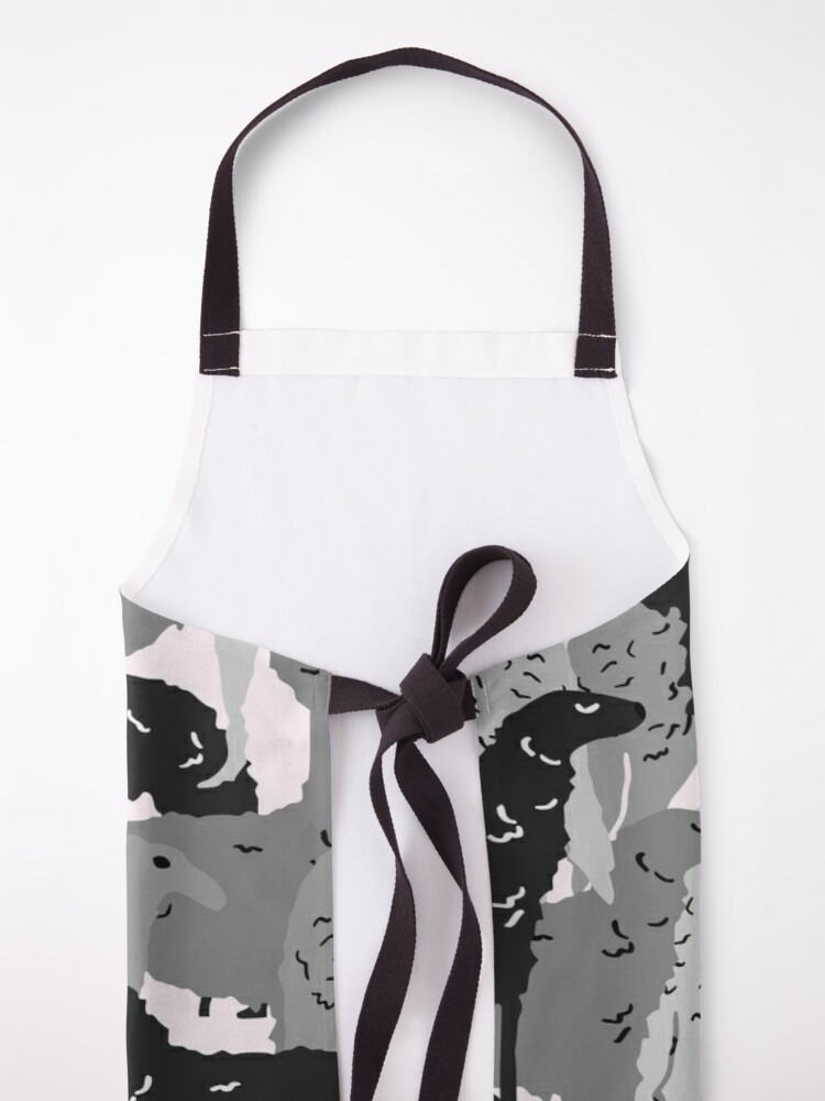 Alternate view of Cute Borzoi Dogs on Pink Background Apron