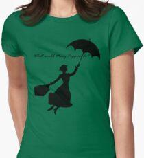 Camiseta entallada para mujer ¿Qué haría Mary Poppins?