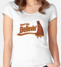 Don't Stop Believin' Women's Fitted Scoop T-Shirt