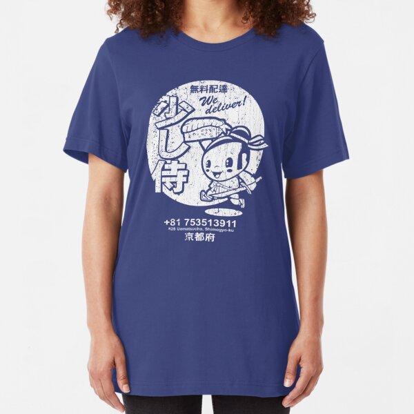 Little Samurai Sushi (vintage look) Slim Fit T-Shirt