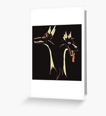 2 headed Stag Dragon Greeting Card