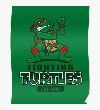 Fighting Turtles Poster