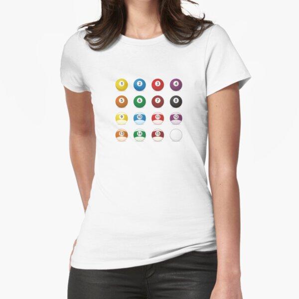 bolas de billar Camiseta entallada