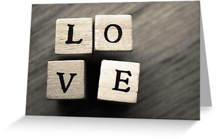 love wooden letter blocks art
