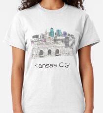 Hand Drawn Kansas City Skyline Classic T-Shirt