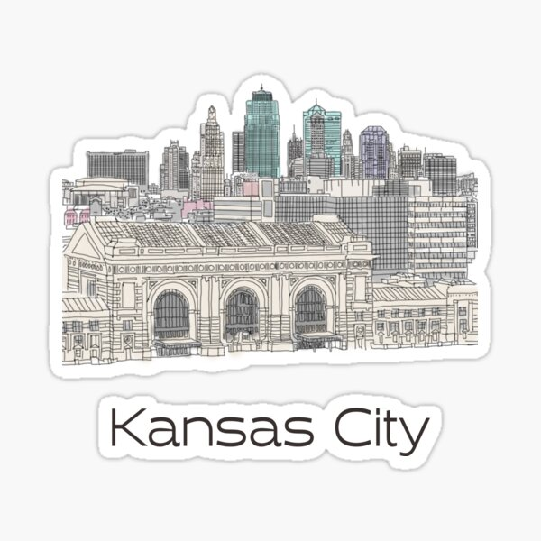 Hand Drawn Kansas City Skyline Sticker