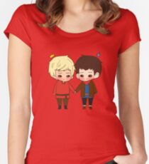 A King and His Sorcerer / A Sorcerer and His King Women's Fitted Scoop T-Shirt
