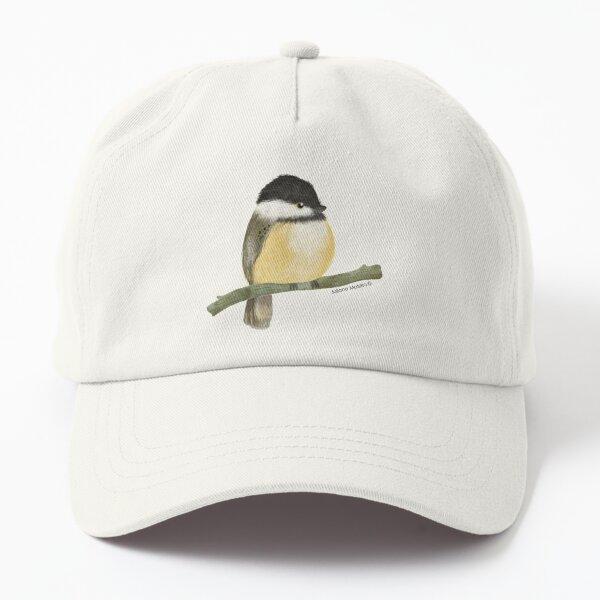 Black capped chickadee bird Dad Hat
