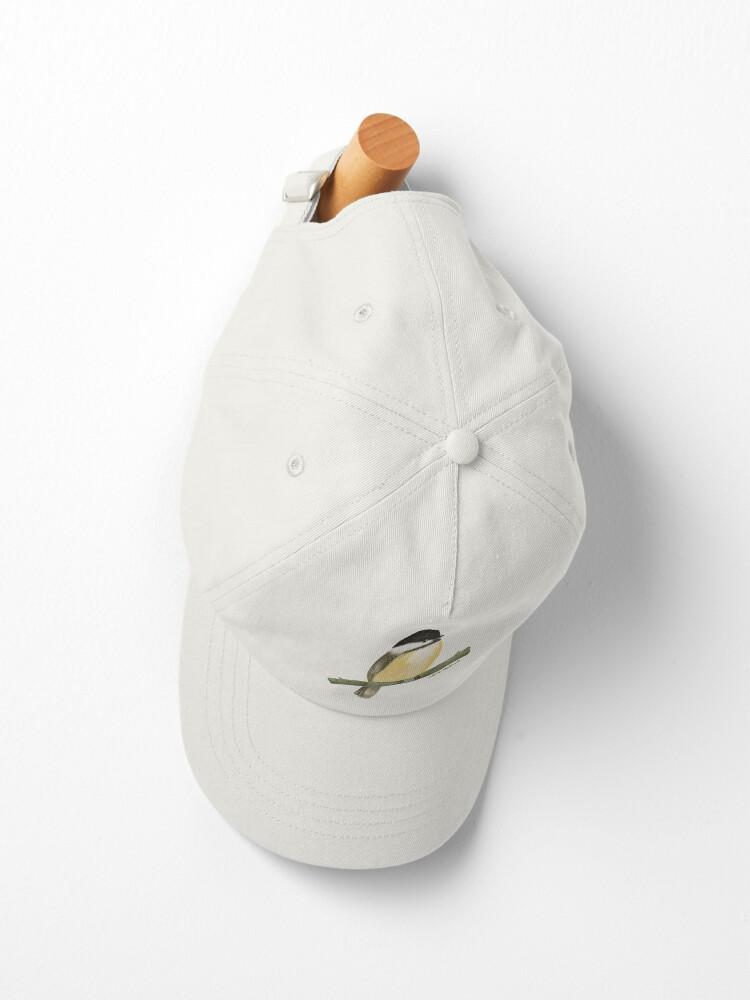 Alternate view of Black capped chickadee bird Cap