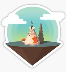 The Lonely Tepee Sticker