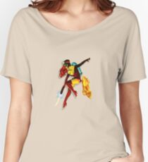 vintage jet pack girl Women's Relaxed Fit T-Shirt