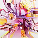 Sunberry - Abstract Watercolor Painting by jeffjag