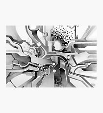 Sunberry - Abstract Watercolor Painting - Black and White Photographic Print