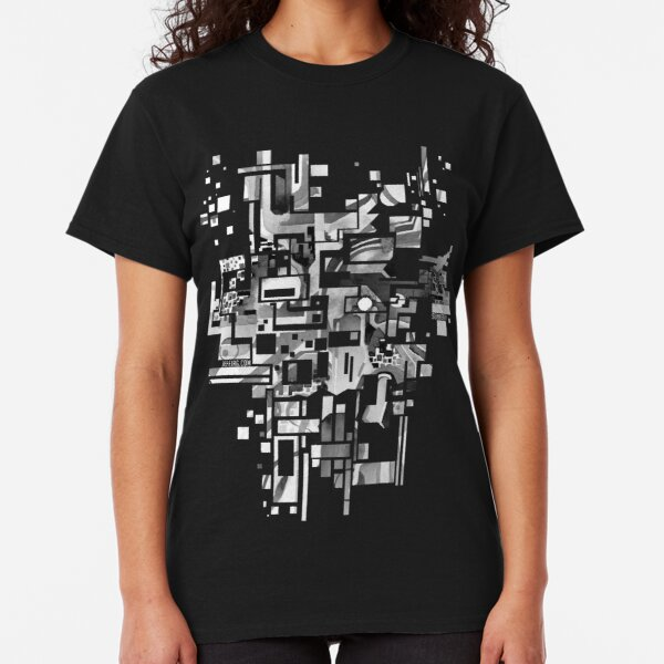 Sunberry - Abstract Watercolor Painting - Black and White Classic T-Shirt
