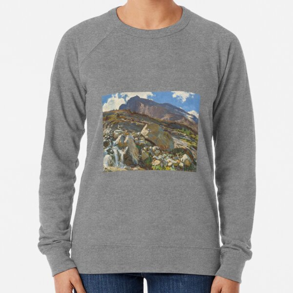 Simplon Pass Oil Painting by John Singer Lightweight Sweatshirt