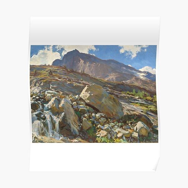 Simplon Pass Oil Painting by John Singer Poster