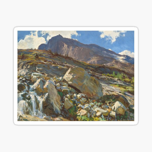 Simplon Pass Oil Painting by John Singer Sticker