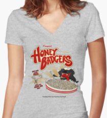 Honey Badgers Women's Fitted V-Neck T-Shirt