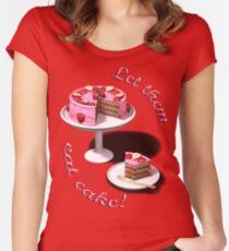Let them eat cake! Women's Fitted Scoop T-Shirt