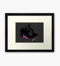 Canada mapped by roads, streets and highways Framed Print