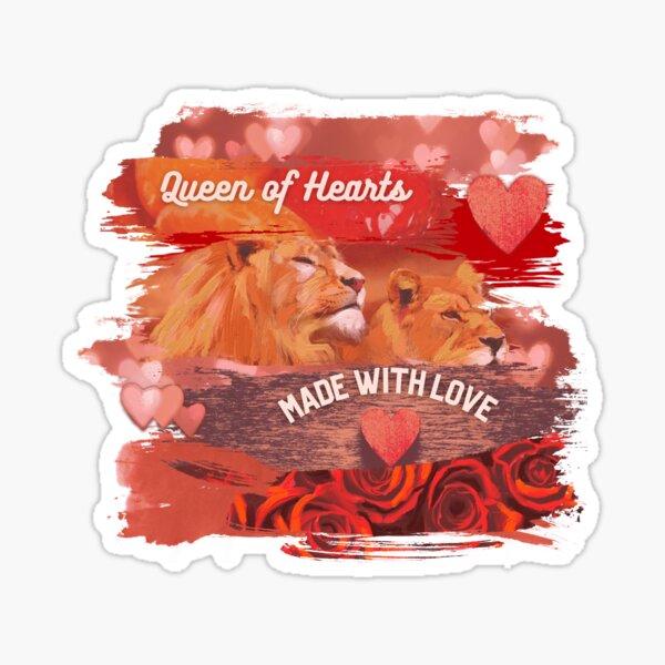 Leo Queen Of Hearts Sticker