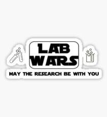 Lab Wars (black) Sticker