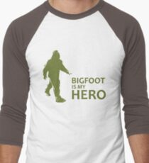 Big Foot Is My Hero Men's Baseball ¾ T-Shirt