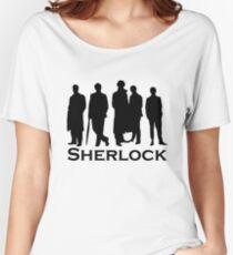 Sherlock Silhouettes  Women's Relaxed Fit T-Shirt