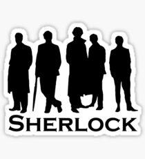 Sherlock Silhouettes  Sticker